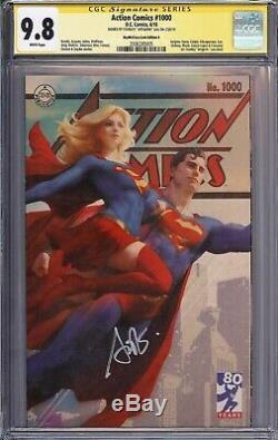 Cgc Ss 9.8 Action Comics # 1000 Signé Stanley Lau Artgerm Variant Art Supergirl