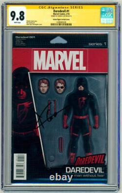 Cgc Ss 9.8 Signé Charlie Cox Daredevil #1 Comic Action Figure Variante Couverture Art