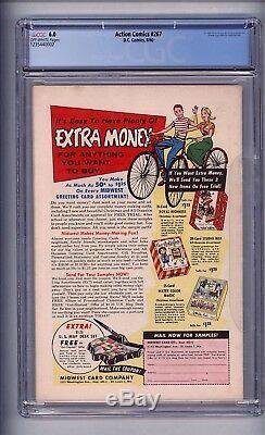 Cgc (d. C) Action Comics (superman) 267 (3e Légion) Fn 6.0 1960 Ow Pages