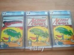 Comics D'action 1 Réimpression Cgc 9.8 Superman 1 Lot De Caisses De Casemate Variante Waite