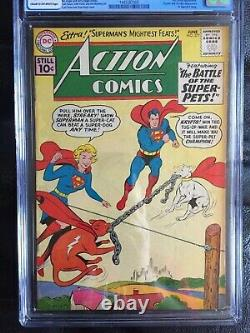 Comics D'action #277 Cgc Vf 8.0 Cm-ow Krypto Vs. Remorqueur De Guerre Streaky Cvr