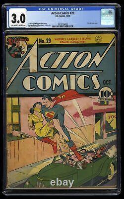 Comics D'action #29 Cgc Gd/vg 3.0 Off Blanc À Blanc Couverture De La Première Voie De Lois