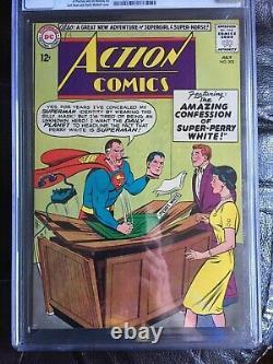 Comics D'action #302 Cgc Nm+ 9,6 Ow-w Comet L'application Super-horse
