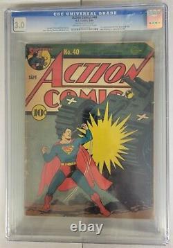 Comics D'action #40 Cgc Classé 3.0