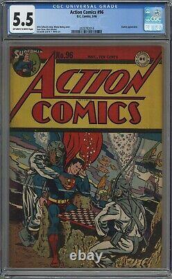 Comics D'action #96 Cgc 5.5 De Blanc Cassé À Blanc Pages 1946