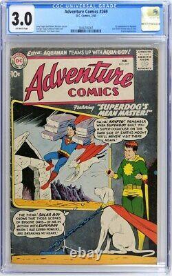 Comics D'aventure 269 Cgc 3.0 Siegel Swan 1960
