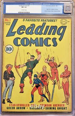 Comics De Leading #1 (dc 1941) Org/1st Ap 7 Soldats De La Victoire Cgc 5.5