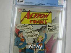DC Action Comics #252 Cgc 2.5 5/59 Origine & 1ère Apparition Supergirl & Metallo