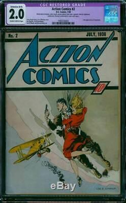 DC Action Comics 2 Cgc 2.0 2e Apparition Superman 1938 L'âge D'or Classique