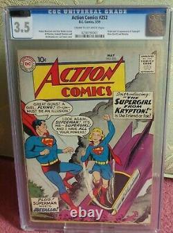 DC Action Comics Cgc 3.5 Superman Golden #252 1st Supergirl Apparence 3.5 Cva
