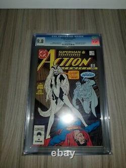 DC Cgc 9.8 Action Comics 595 1er Silver Banshee John Byrne