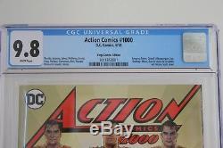 DC Comics Action 1000 Cgc 9.8 Rare Kings Comics Variant Cover Superman