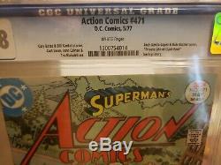 DC Comics Action Comics # 471 Cgc 9.8 Pages Blanches App 1st. De Faora Hu-ul