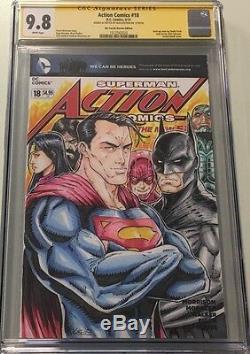 DC Comics Action N ° 18 Sketch Blank & Signé Alex Sketched Kotkin Cgc 9.8 Ss
