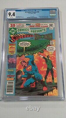 DC Comics Présente Le Numéro 26 (1980) Cgc 9.4 1er Raven Cyborg Starfire White Pages