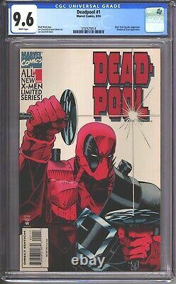 Deadpool #1 Cgc 9.6 (1994) Near Mint + White Pages Rare Bd