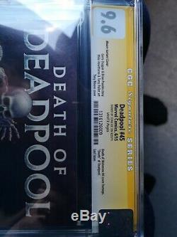 Deadpool # 45 1100 Moore Varient Signée Par Stan Lee Cgc 9.6 Certifié