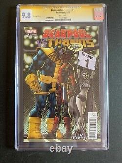 Deadpool Vs Thanos #1 Cgc 9.8 Ss Stan Lee! Marvel Comics 2015! Cvr De Hastings