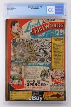 Detective Comics # 16 Cgc 0,5 Pr DC 1938 Annonce Pour Action Comics # 1