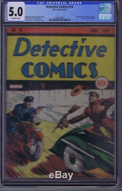 Detective Comics # 16 DC 1938 Annonce Pour Action Comics # 1