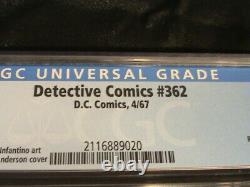 Détective Comics #362 Cgc Grade 5.0