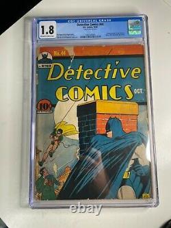 Detective Comics #44 Golden Age DC Comic Book Cgc 1.8
