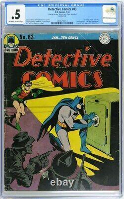 Détective Comics 83 Cgc 0.5 Incomplet 1944 Batman Kirby Robinson