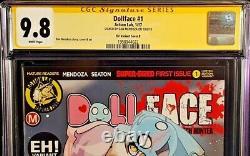 Dollface #1 Cgc Ss 9.8 Dan Mendoza Signé Variante Zombie Tramp Action Lab Comic