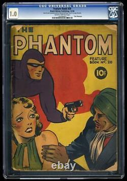 Feature Book #20 Cgc Fair 1.0 Scarce Phantom Comic 1938 Pre Action Comics #1