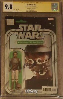 Figurine D \ 'action Lando N ° 52 De La Série Star Wars Cgc 9.8 Ss Signée Billy Dee Williams
