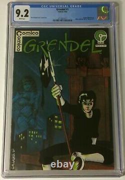 Grendel #1 Cgc Graded 9.2 Comic Book White Pages Comico Matt Wagner Mars 1983