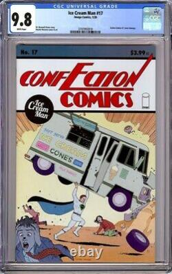 Ice Cream Man #17 Cgc 9.8 Pages Blanches 1er Tirage Hommage Action Comics 1 Cvr 2020