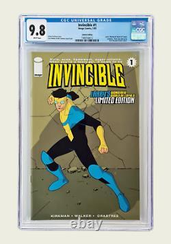 Invincible 1 Cgc 9.8 Larry's Wonderful World Of Comics Edition Limitée