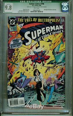 Jerry Siegel Signé Action Comics 700 Cgc 9.8 Superman Anniversaire Edn! Coa