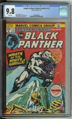 Jungle Action # 13 Cgc 9.8 Marvel Comic 1975 Nm / Mt Pages Blanches Black Panther