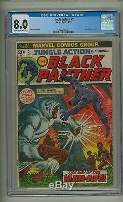 Jungle Action # 5 (cgc 8.0) 1ère Panthère Noire Dans Le Titre 1973 (c # 21910)