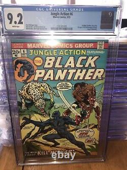 Jungle Action 6 Ccg 9.2 Pages Blanches. 1er Killmonger 1er Solo Black Panther 1973