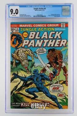 Jungle Action # 6 - Near Mint - Cgc 9.0 Vf / Nm Marvel 1973 1ère Application De Killmonger