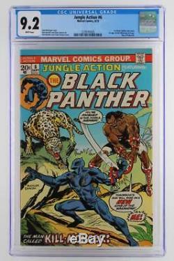 Jungle Action # 6 - Near Mint - Cgc 9.2 Nm - Marvel 1973 1ère Application De Killmonger