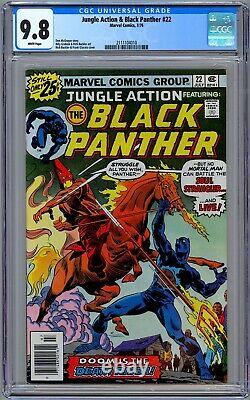 Jungle Action & Black Panther #22 Cgc 9.8 (1976) Vs. Kkk! 1st Soul Strangler