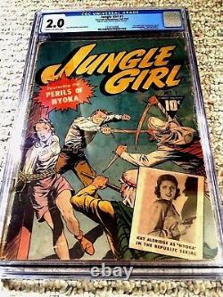 Jungle Girl # 1 Cgc 2.0 Automne 1942 Crème Aux Pages Blanc Cassé Bondage Couverture D'action
