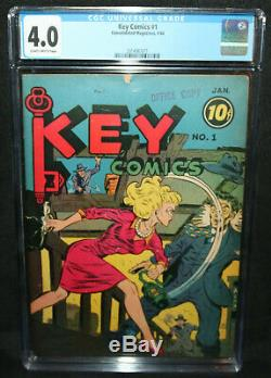 Key Comics # 1 Cgc Action Babe Année 1944 4.0