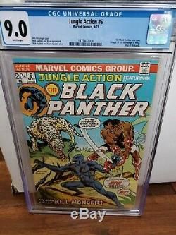 L'action De La Jungle Bande Dessinée Marvel 6 9,0 Nm Cgc Début De Panthère Noire