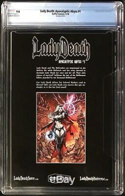 Lady Death Apocalyptique Abyss # 1 Cgc 9.8 Édition Hommage D'action Comics Variante