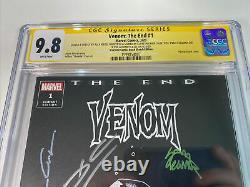 Le Venin La Fin #1 Scorpion Comics Black Sketch Cgc 9,8 Ss Marvel Sketched