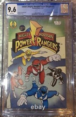 Les Rangers De Puissance Mighty Morphin À Hamilton De Saban 1 Comic Book Cgc 9.6 Classé