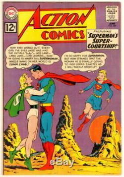 Lot 2 Action Comics 285 Cgc 8.5 Question Clé Et D'action 289 Vf + 8.5 1er Luma Lanai
