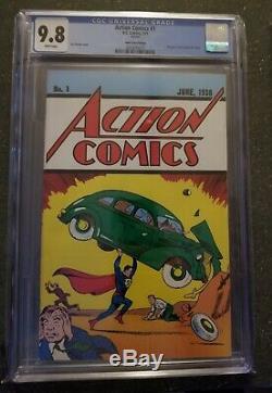 Lot De 2 Cgc 9.8 Action Comics # 1 Safeguard 1976 Promo & Loot Crate Reprints