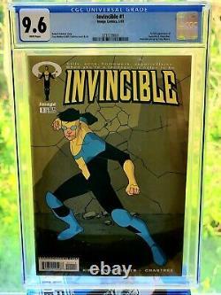 Make Offer Image Série Comique Et Prime Invincible #1 Cgc 9.6 Très Rare 1erimprimé