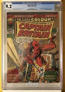Marvel Comics Captain Britain #8 Cgc 9.2 1ère Application Betsy Braddock Devient Psylocke